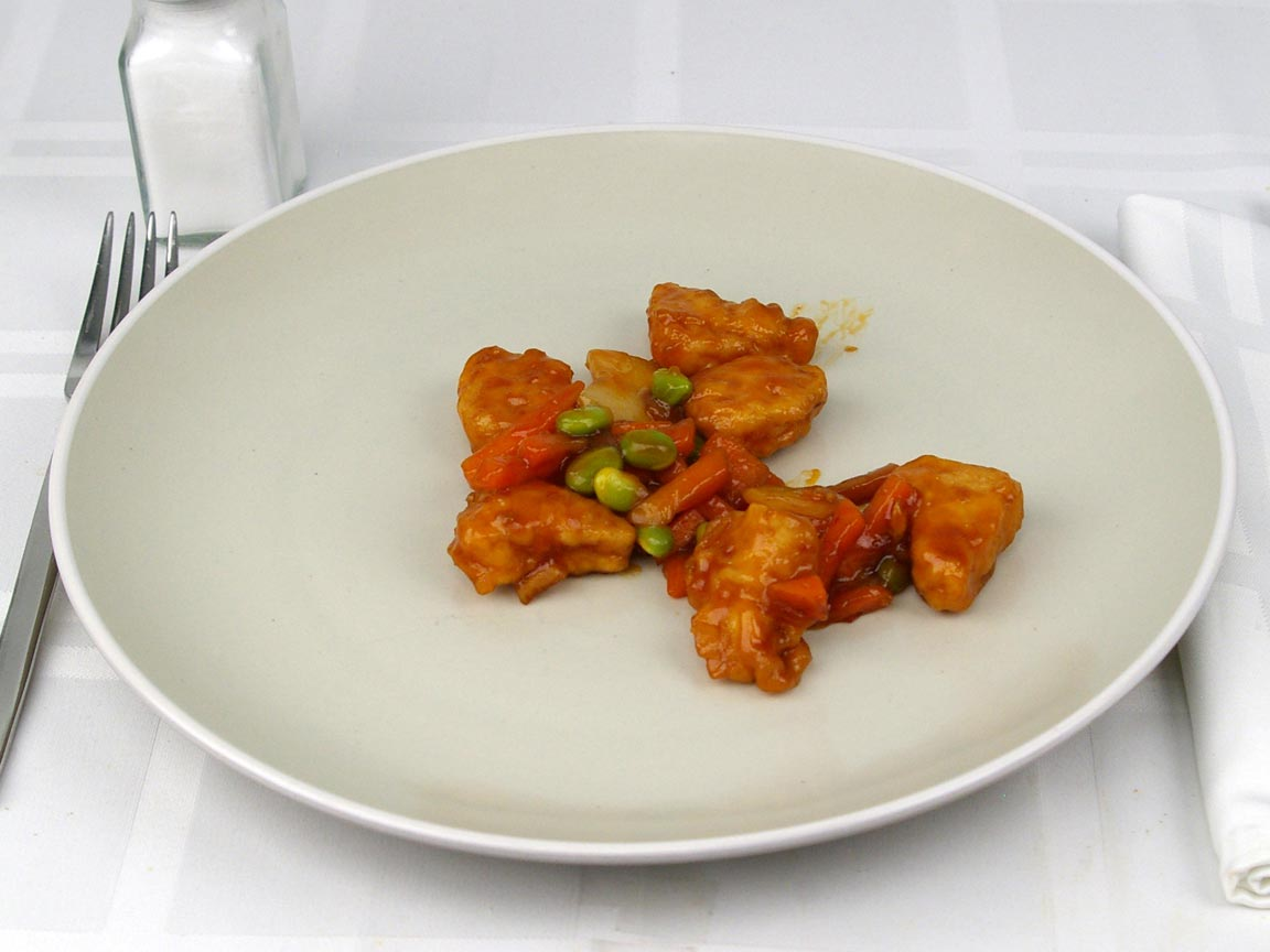Calories in 0.75 cup(s) of Orange Chicken Frozen Entree