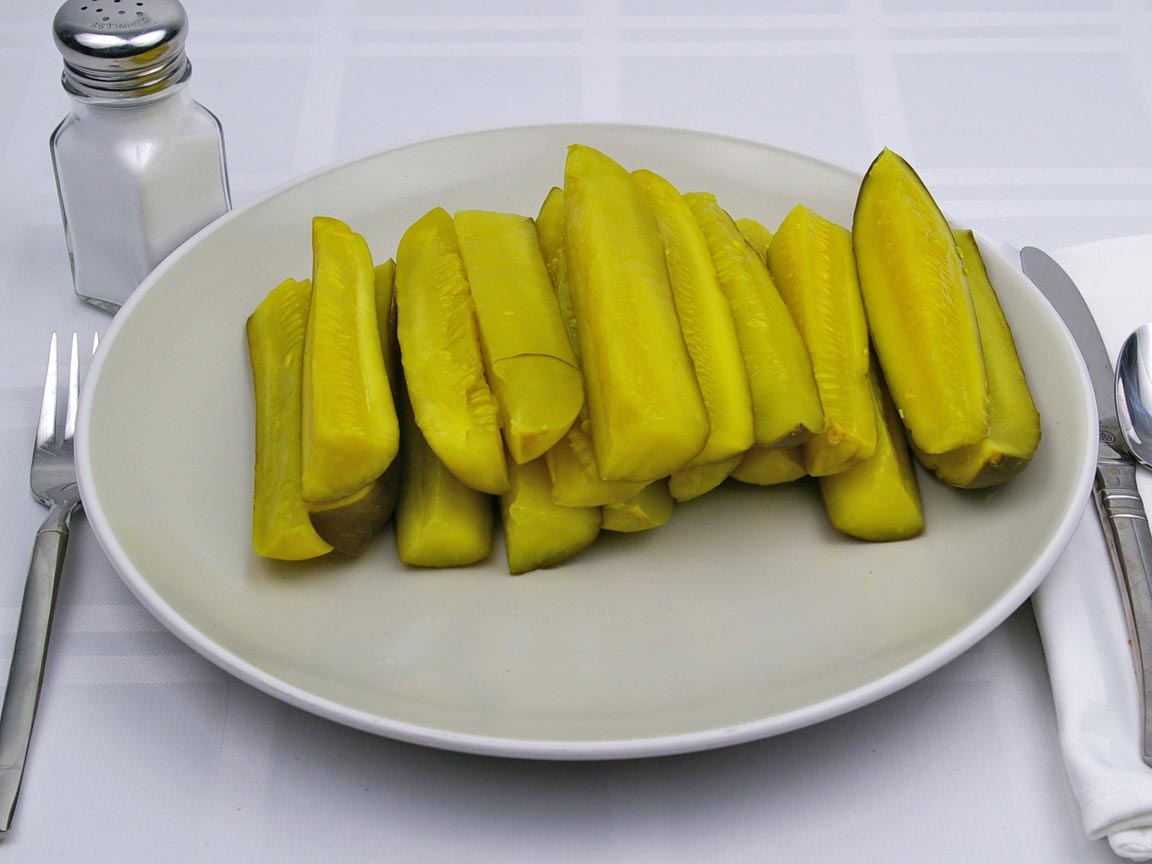 Calories in 18 spear(s) of Dill Spear Pickle