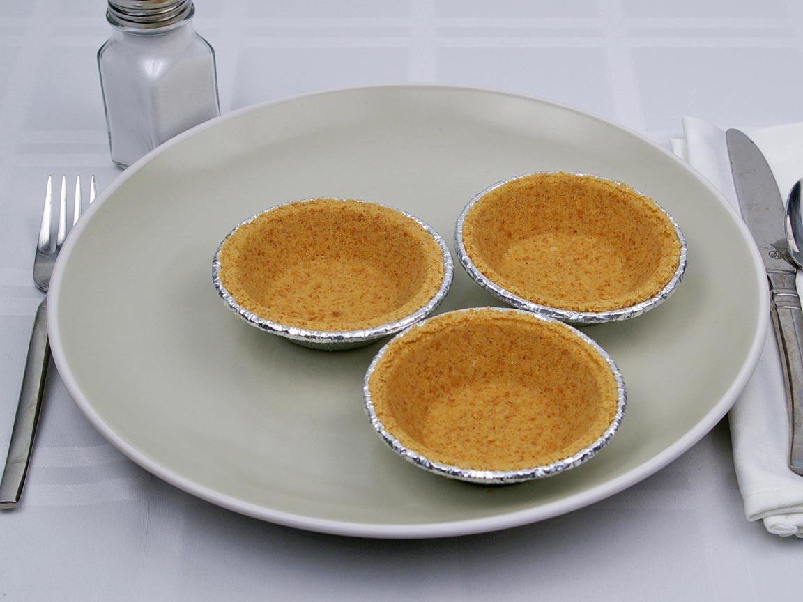 Calories in 3 mini(s) of Graham Pie Crust - Mini