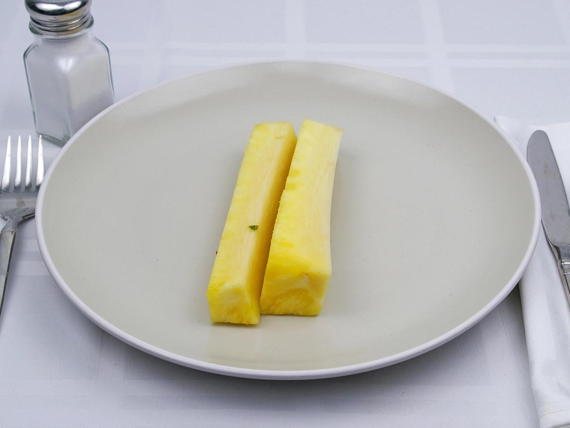 Calories in 0.5 core(s) of Pineapple - Fresh - Core
