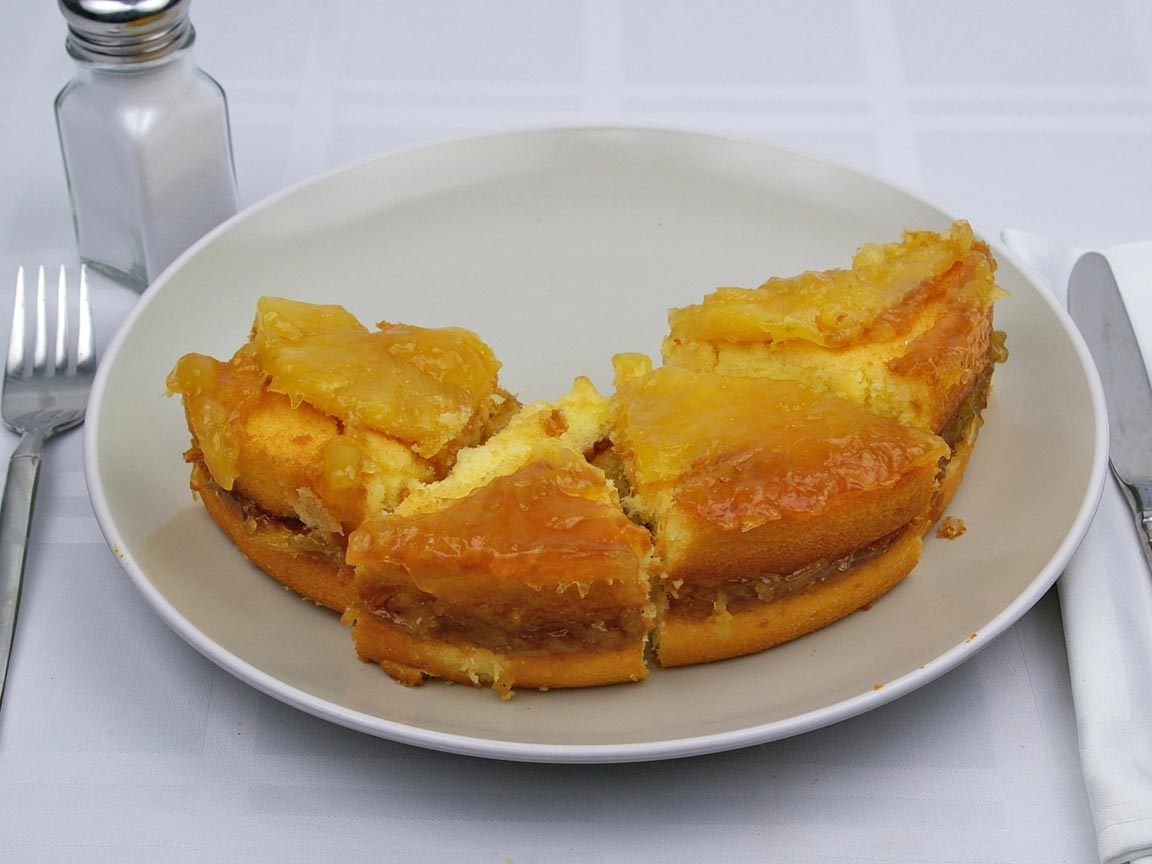 Calories in 4 piece(s) of Pineapple Upside-Down Cake
