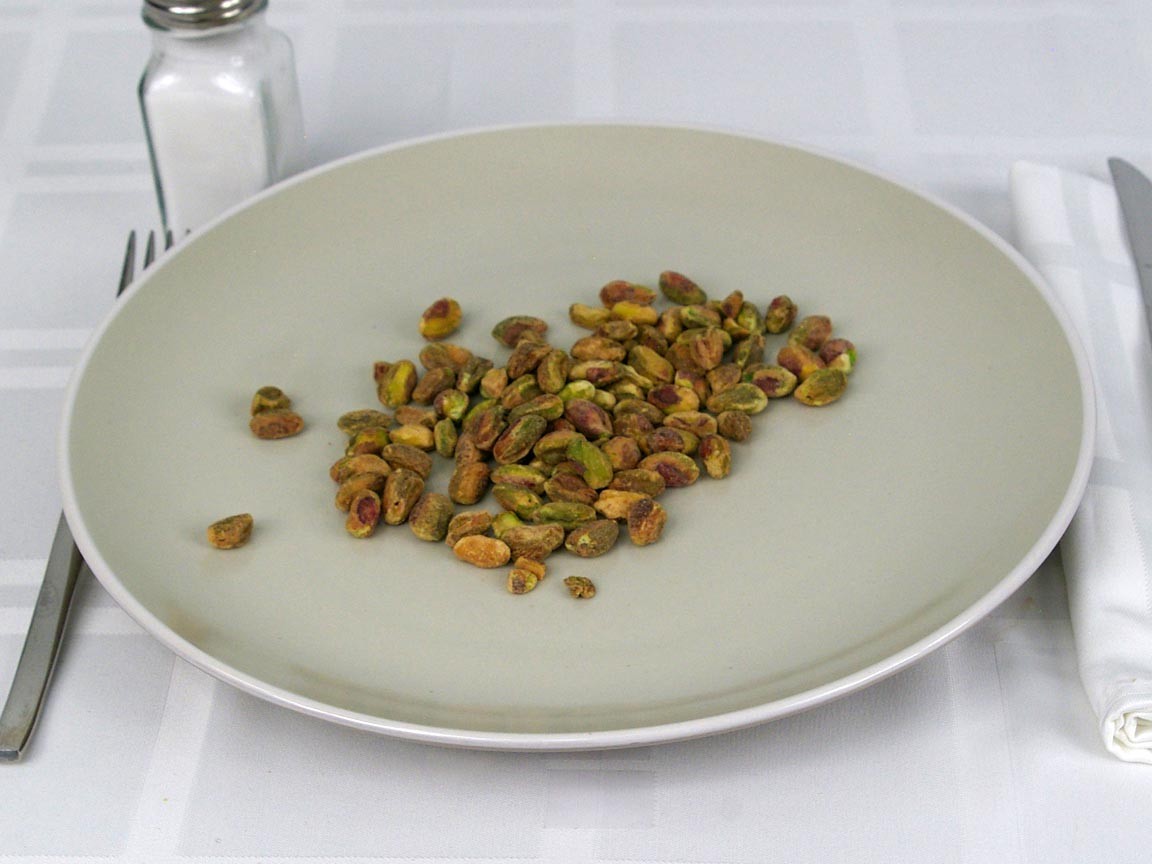 Calories in 42 grams of Shelled Pistachios