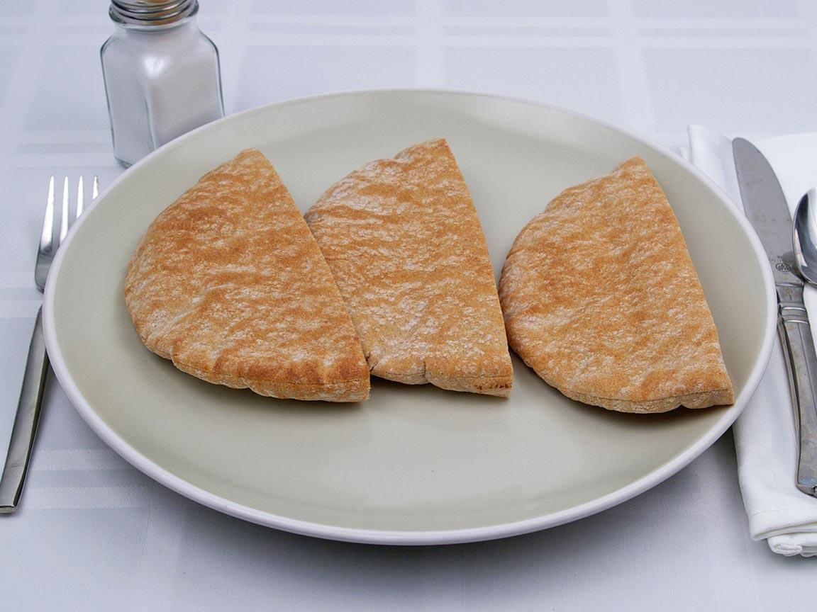 Calories in 1.5 pita(s) of Pita Bread