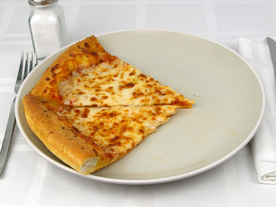 """Calories in 2 slice(s) of Pizza - Cheese - Large 14"""""""