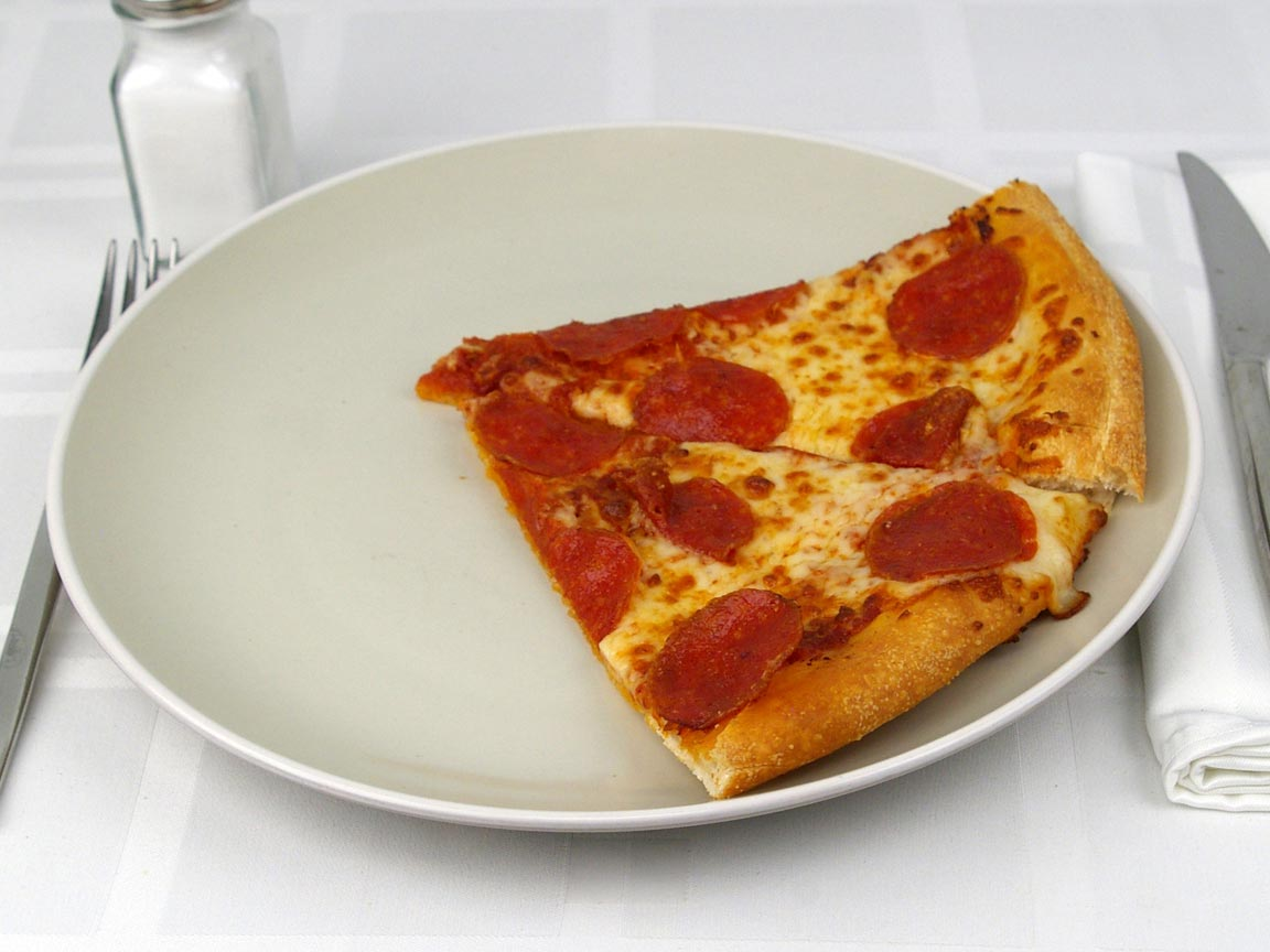 """Calories in 2 slice(s) of Pizza - Pepperoni - Large 14"""""""