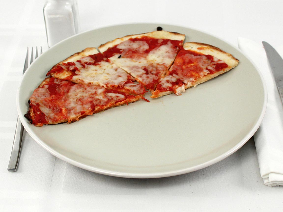 Calories in 0.5 pizza(s) of Pizza Rev Thin Crust Cheese