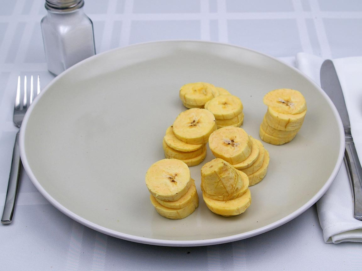 Calories in 170 grams of Plantains - Raw
