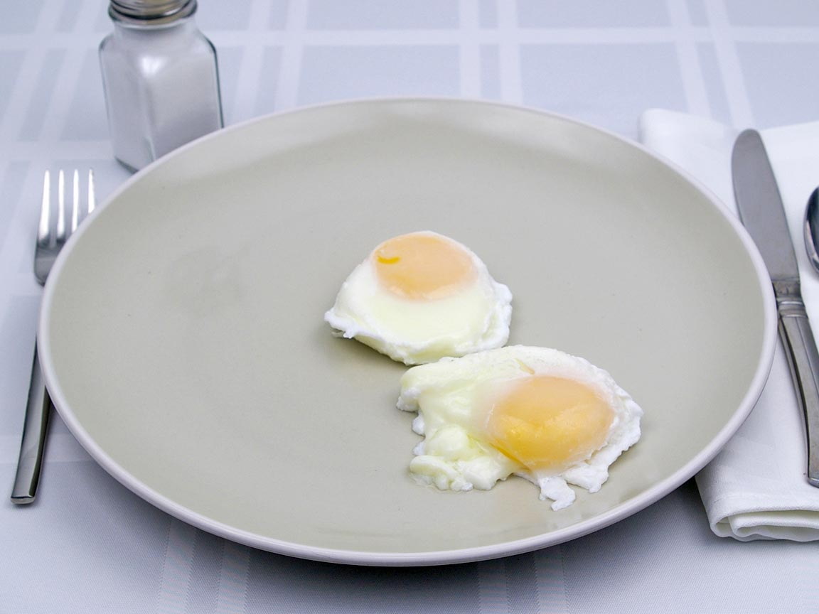 Calories in 2 egg(s) of Poached - Large Egg