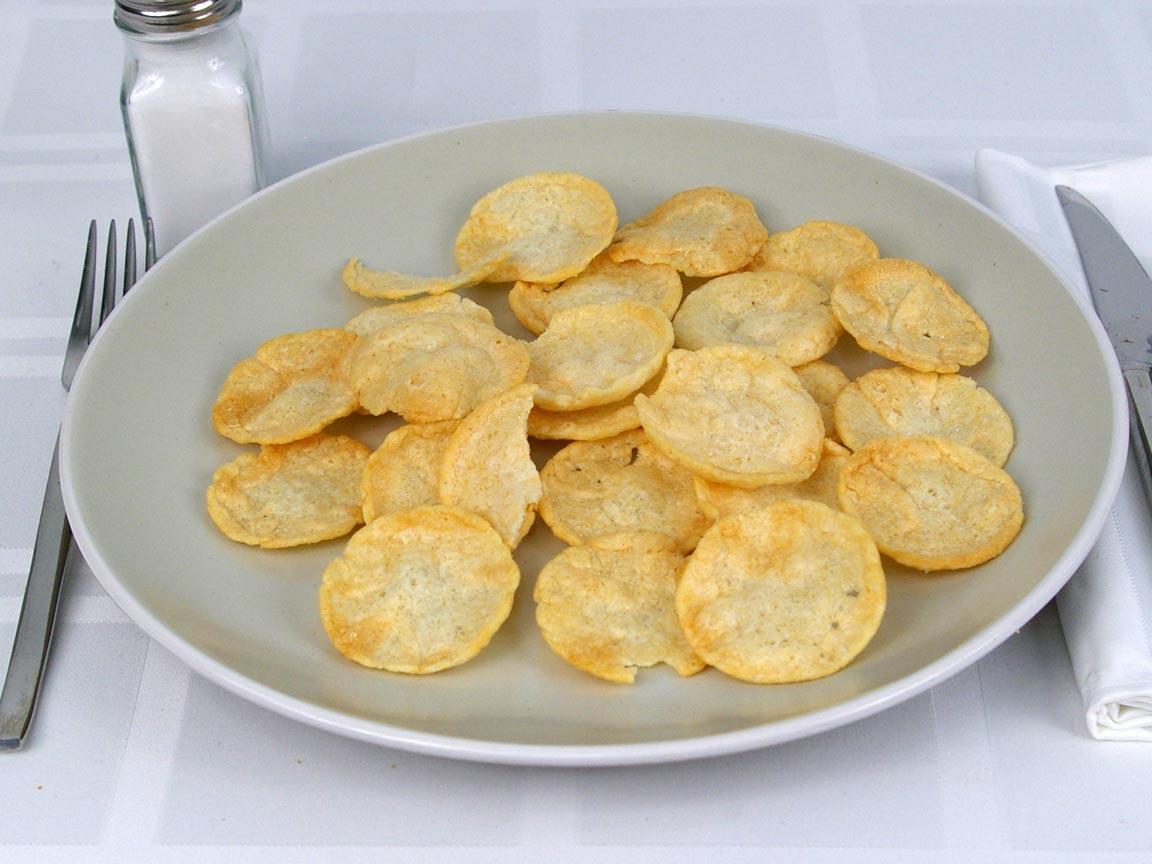 Calories in 28 grams of Pop Chips Sea Salt Potato