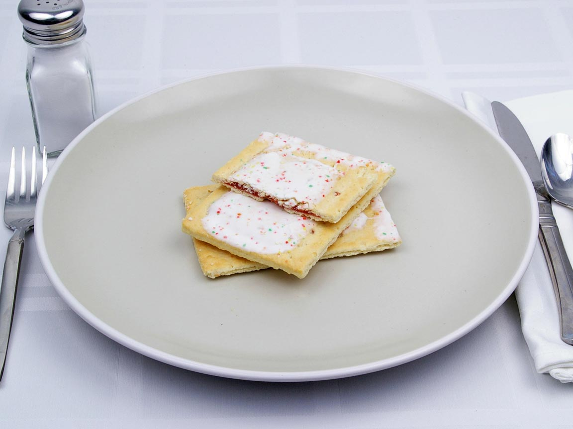 Calories in 2.5 pastry(ies) of PopTarts - Frosted