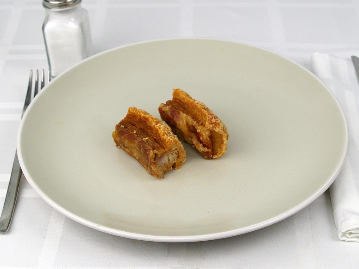 Calories in 56 grams of Pork Cracklins