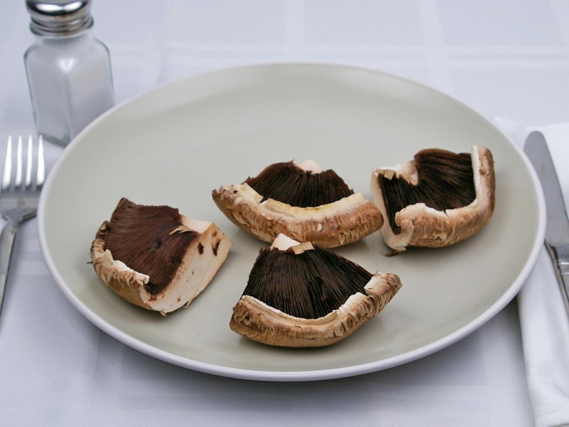Calories in 1 mushroom(s) of Portobello Mushrooms