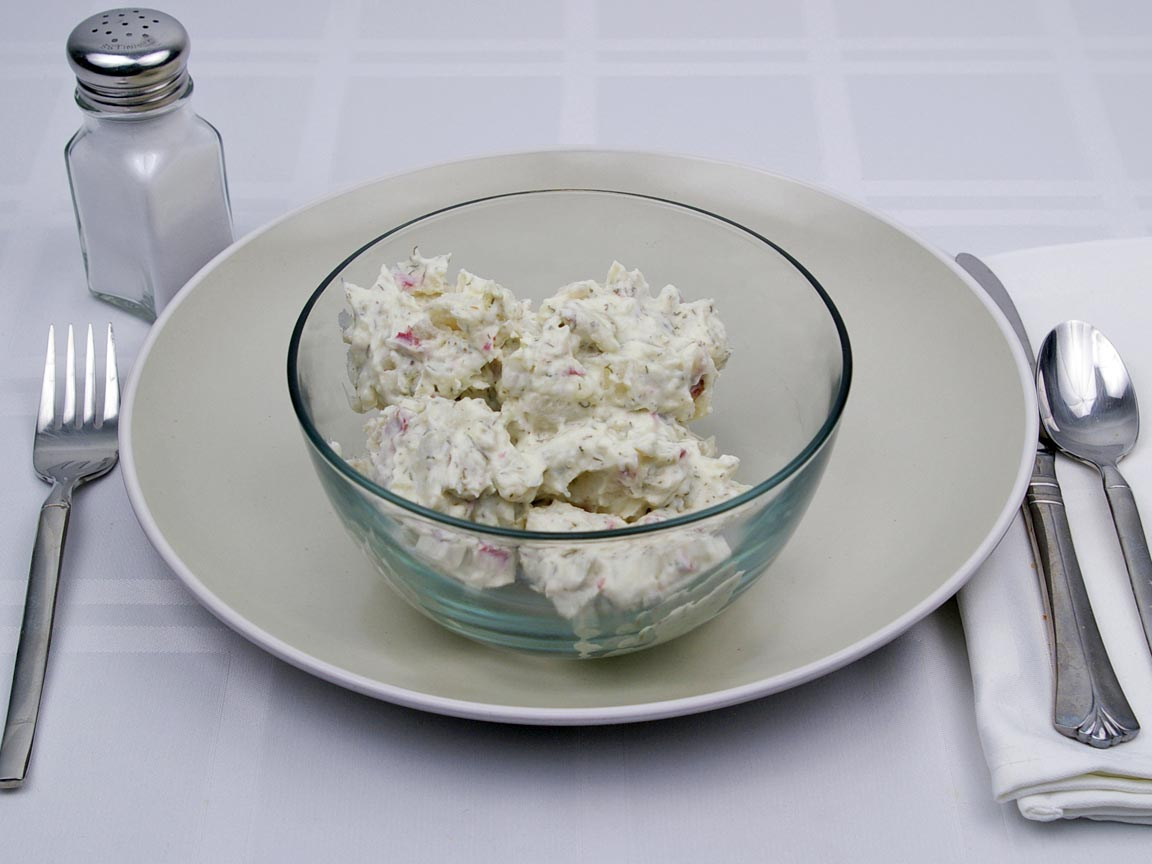 Calories in 1.5 cup(s) of Potato Salad - with Egg