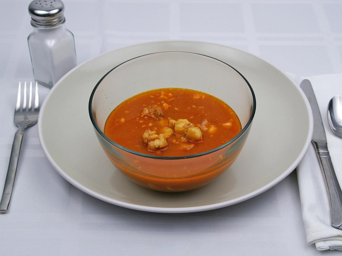 Calories in 1.25 cup(s) of Pozole Soup