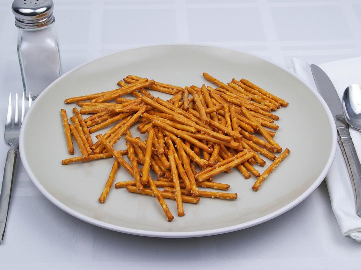 Calories in 63 grams of Pretzel - Sticks