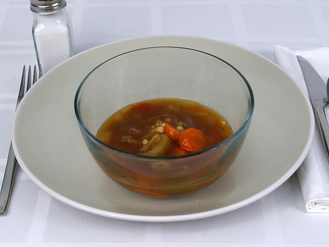 Calories in 1 cup(s) of Progresso Light Vegetable Barley Soup