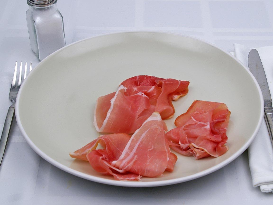 Calories in 3 slice(s) of Prosciutto
