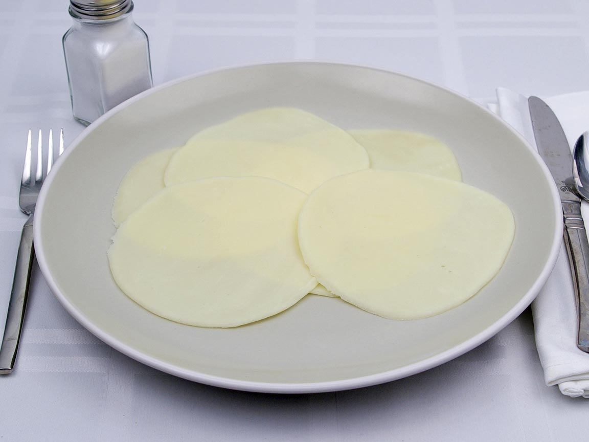 Calories in 6 slice(s) of Provolone Cheese