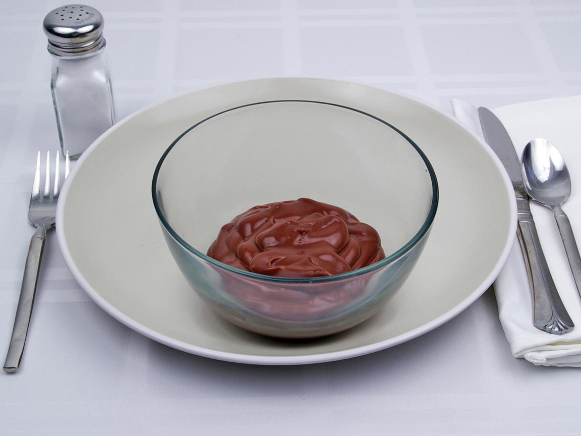 Calories in 141 grams of Chocolate Pudding - Sugar-Free - Non Fat Milk