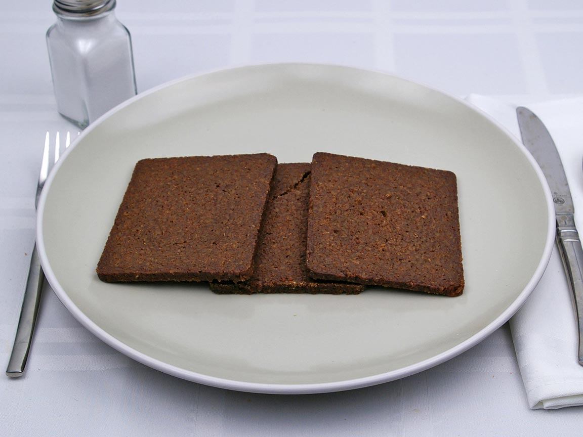Calories in 3 piece(s) of Pumpernickel Bread