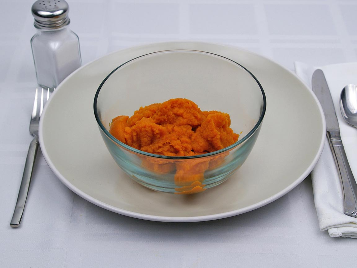 Calories in 0.75 cup(s) of Pumpkin - Canned