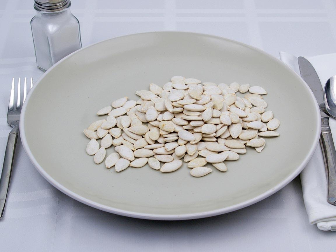 Calories in 0.63 cup(s) of Pumpkin Seeds