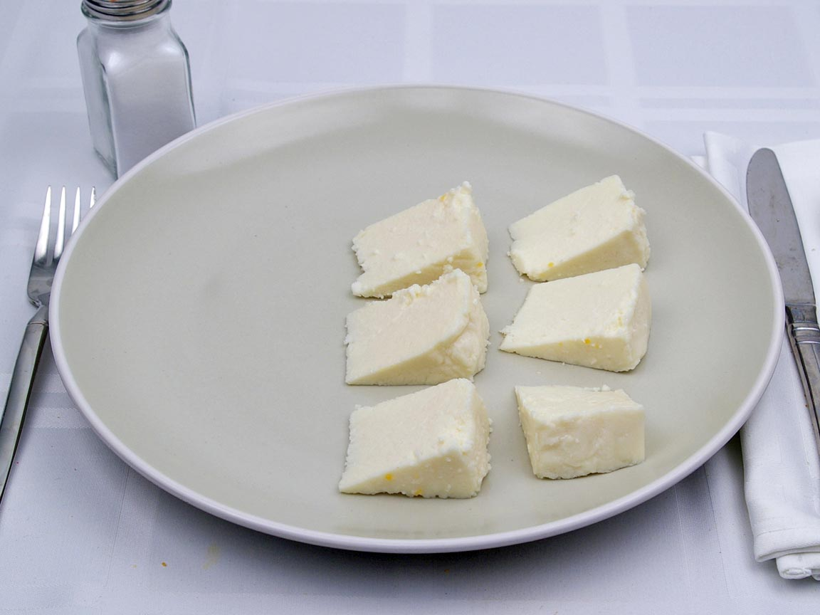 Calories in 170 grams of Panela Cheese