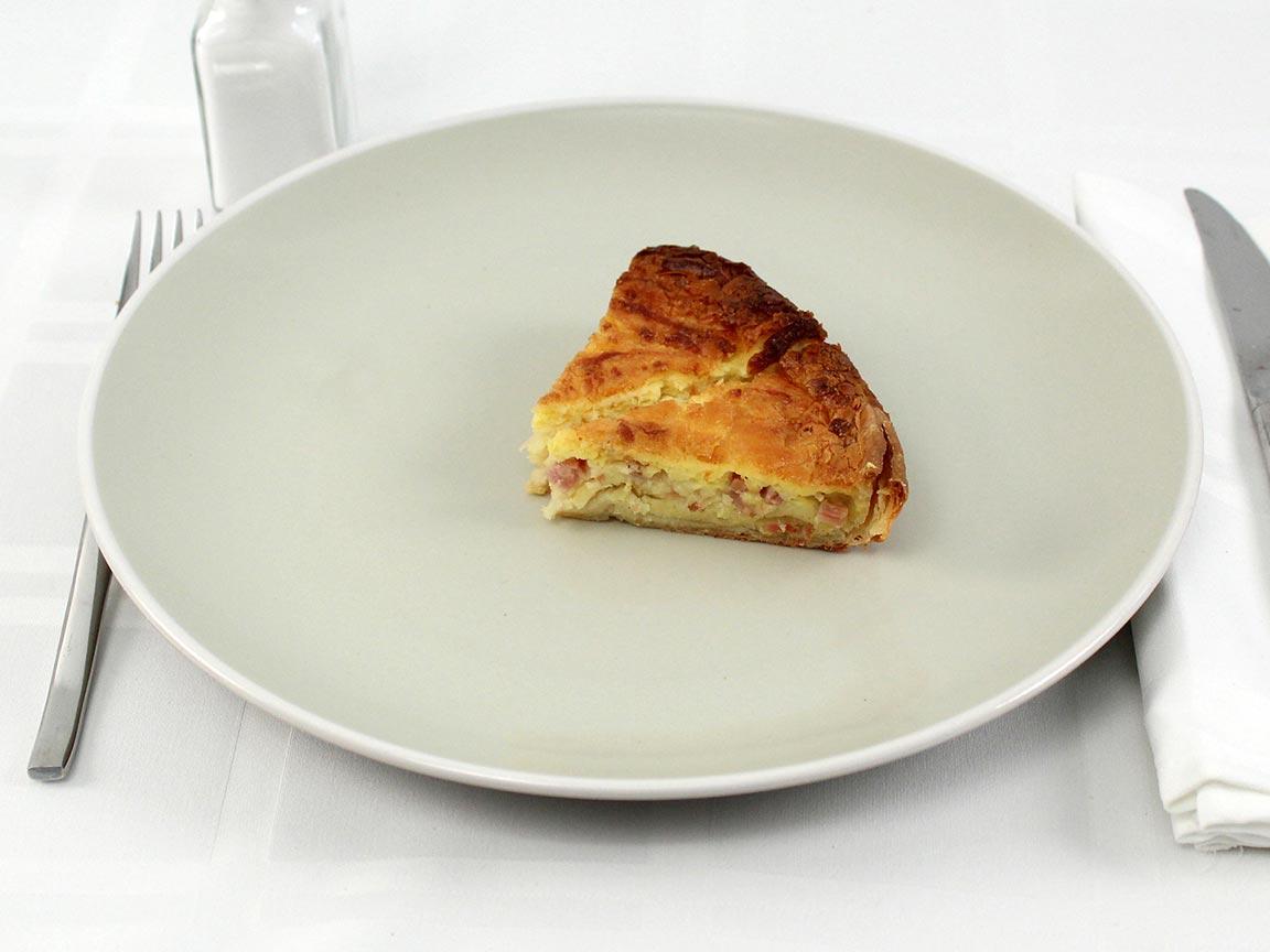 Calories in 2 piece(s) of Quiche Lorranine