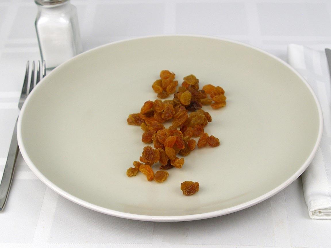 Calories in 42 grams of Golden Raisins