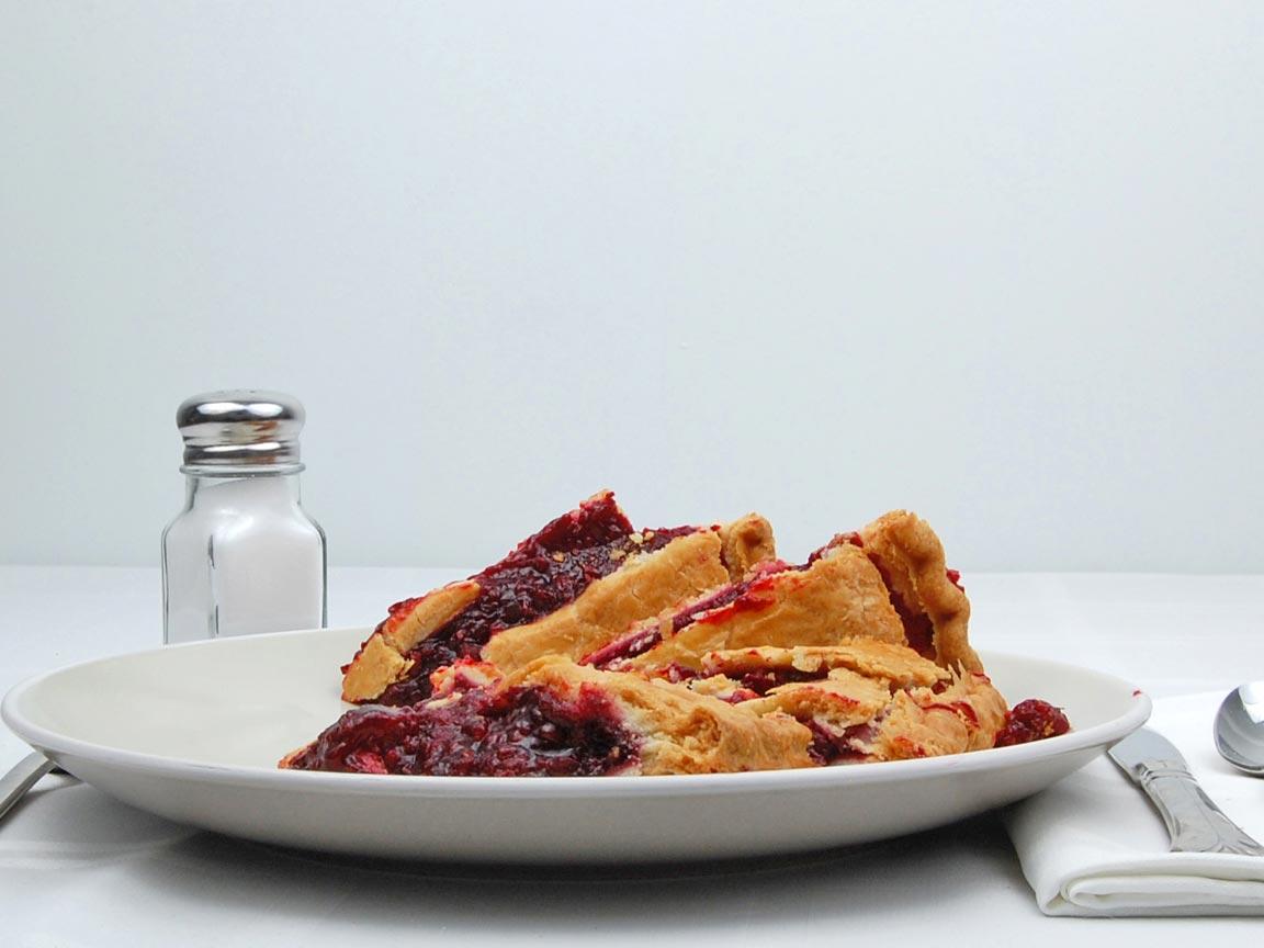 Calories in 5 piece(s) of Razzleberry Pie