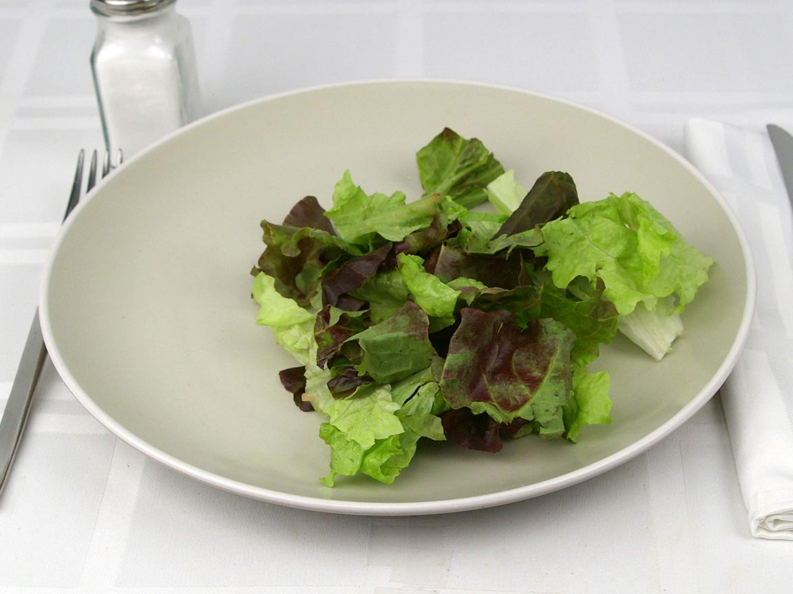 Calories in 1.5 cup(s) of Red Leaf Lettuce