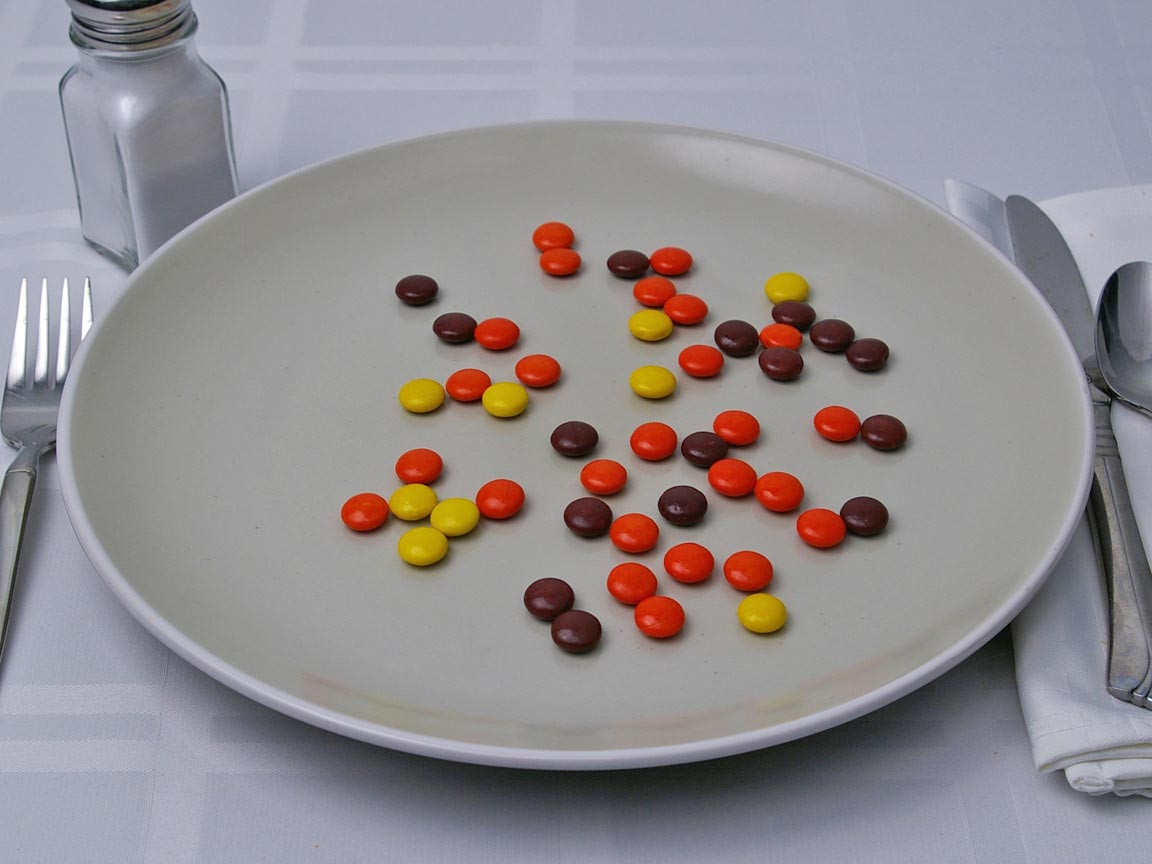 Calories in 39 grams of Reese's Pieces