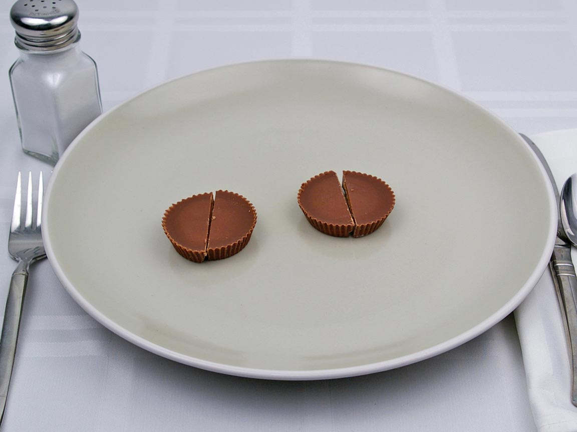 Calories in 2 piece(s) of Reese's Peanut Butter Cup