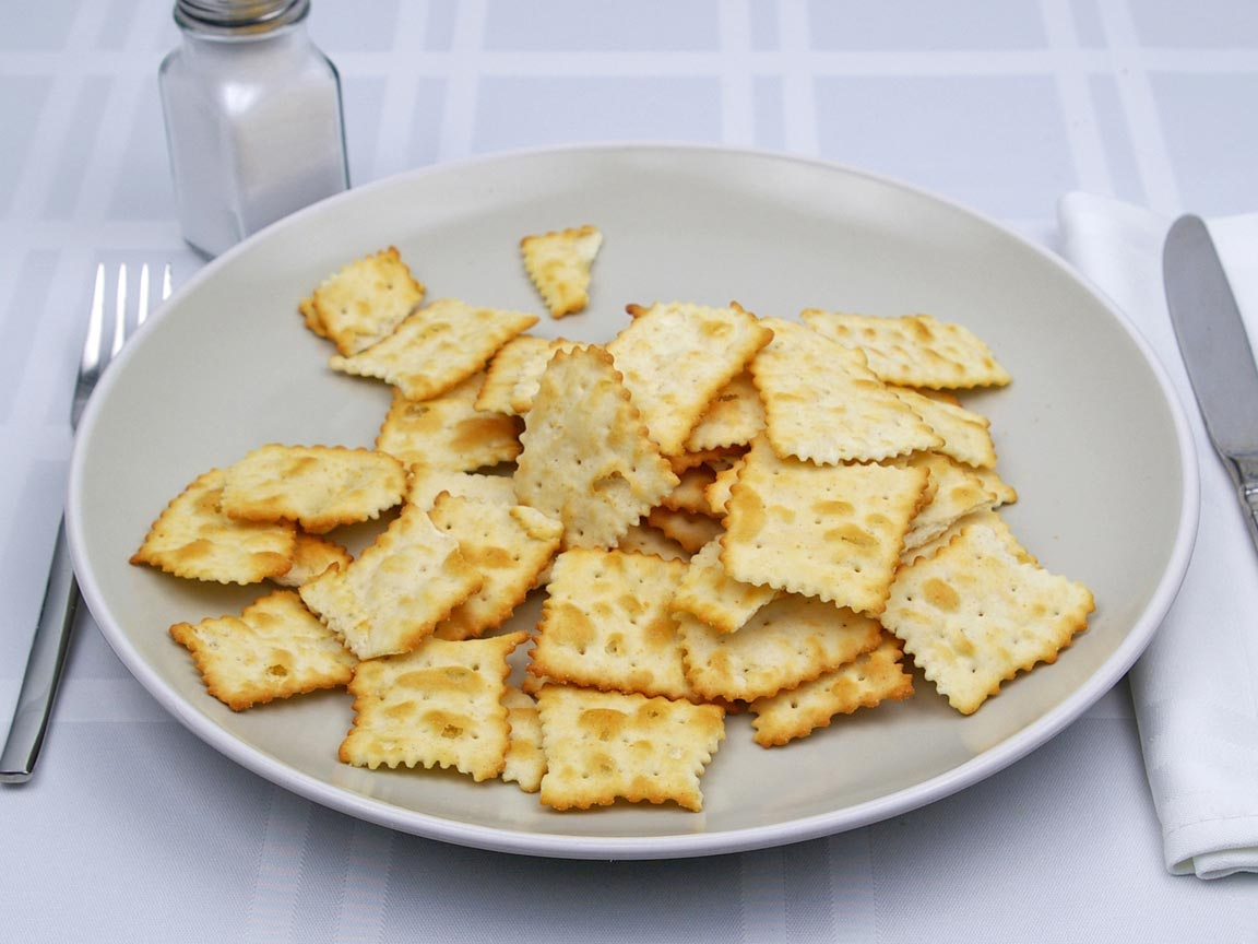 Calories in 85 grams of Ritz Toasted Chips