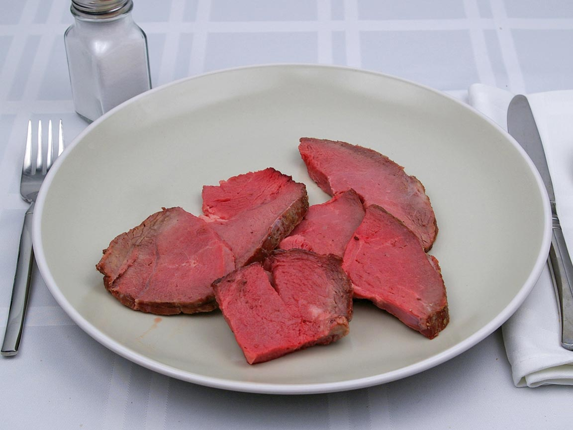 Calories in 170 grams of Roast Beef