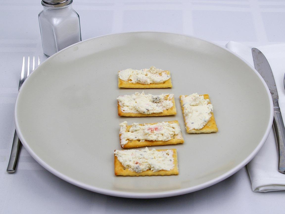 Calories in 1.67 Tbsp(s) of Spreadable Cheese - Garden Vegetable