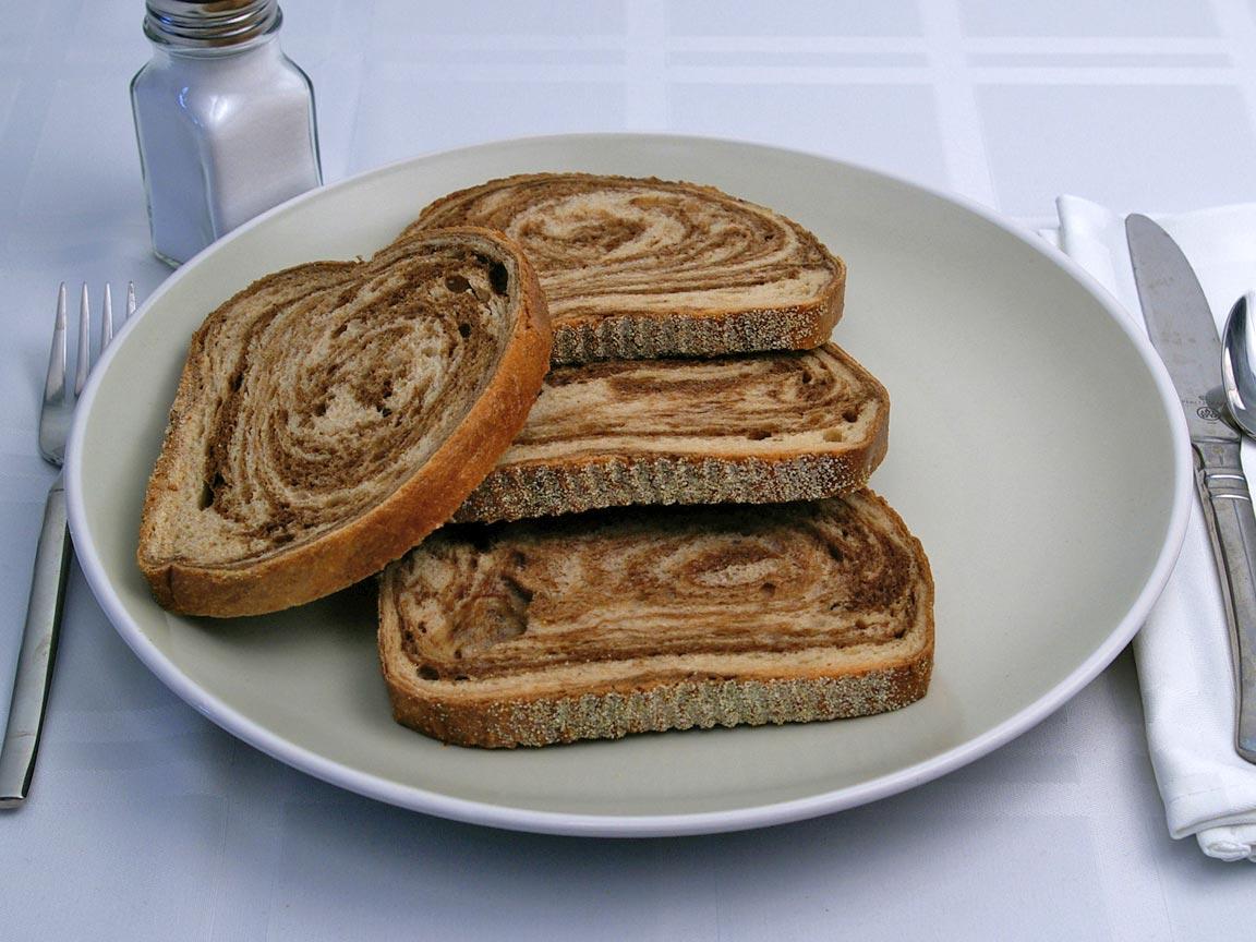 Calories in 4 slice(s) of Rye Bread - Avg