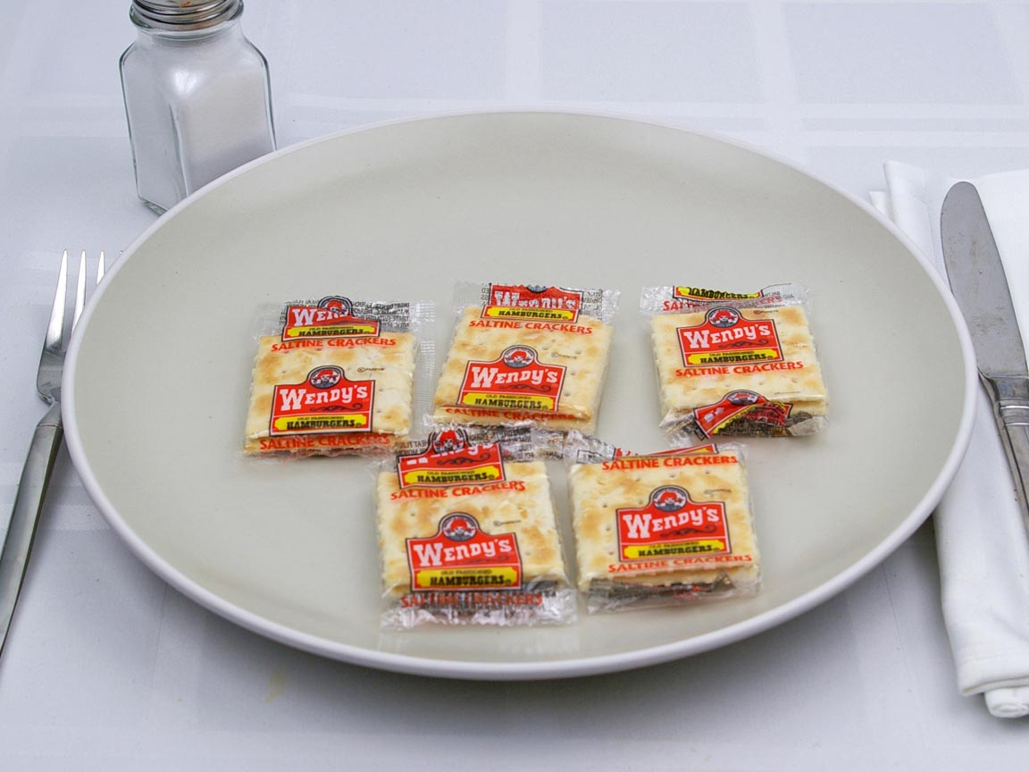 Calories in 5 package(s) of Wendy's - Saltines