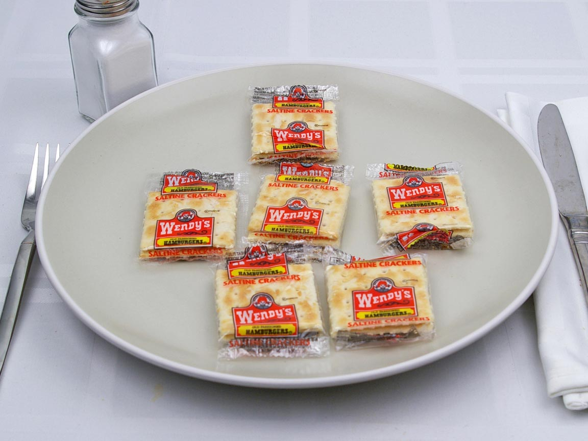 Calories in 6 package(s) of Wendy's - Saltines