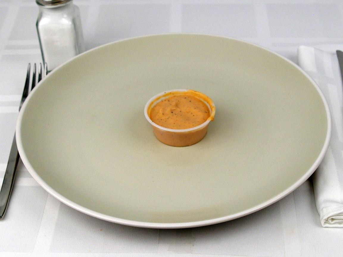 Calories in 1 container(s) of Raising Cane's Fry Sauce