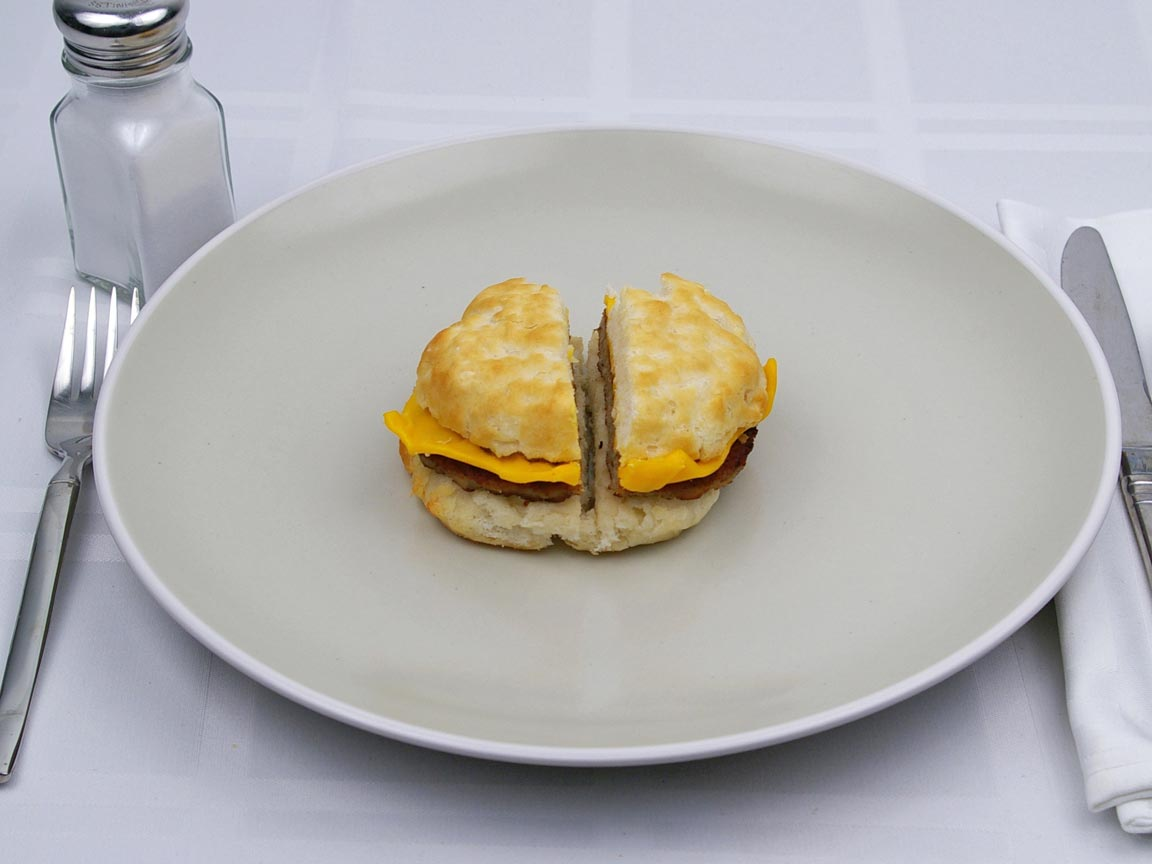 Calories in 1 biscuit(s) of McDonald's - Sausage Cheese Biscuit