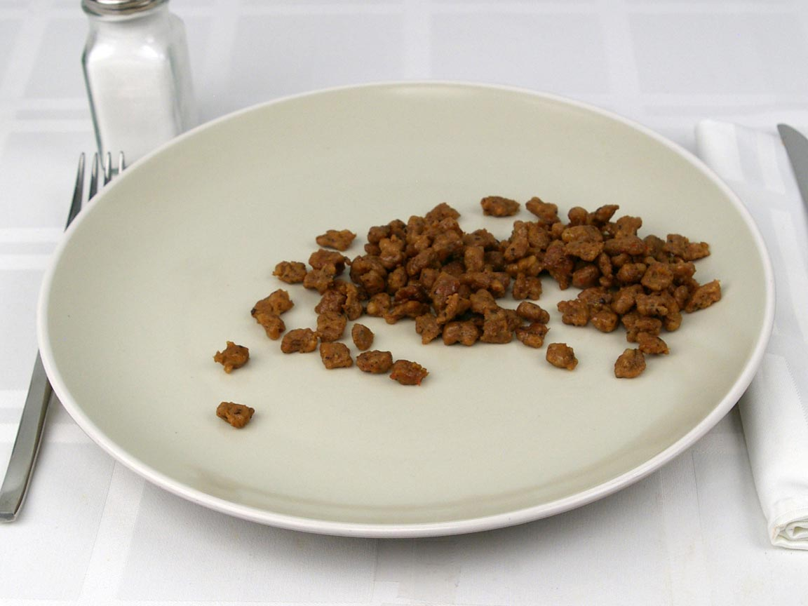 Calories in 56 grams of Sausage Crumbles - Pork