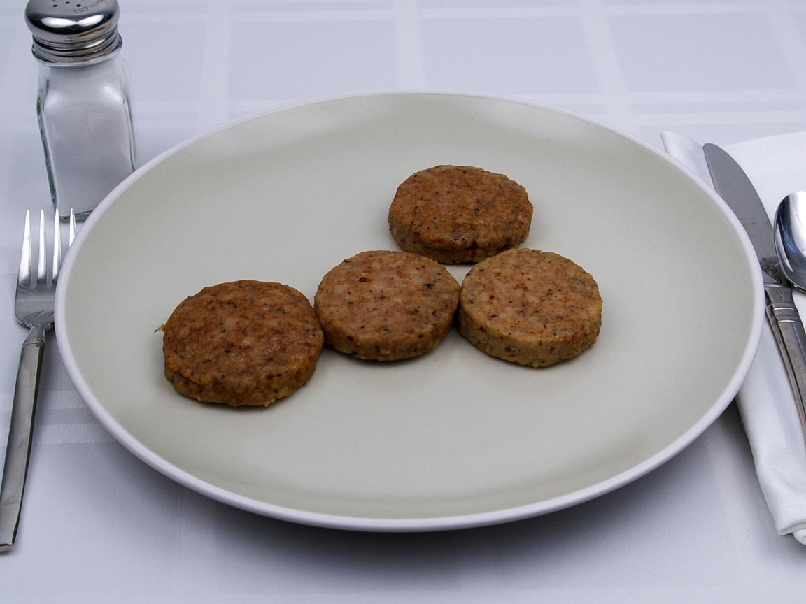 Calories in 4 patty(s) of Pork Sausage Patty