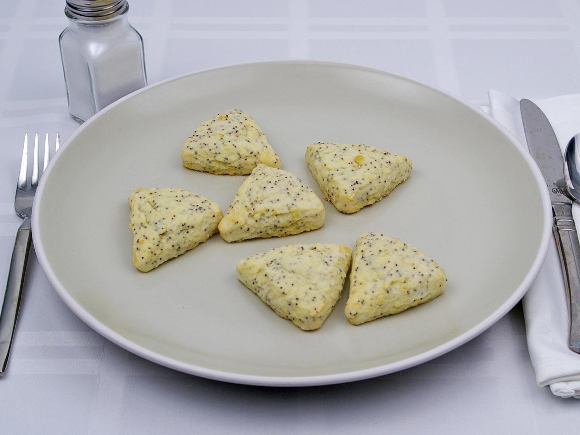 Calories in 6 scone(s) of Mini Scone - Lemon Poppyseed