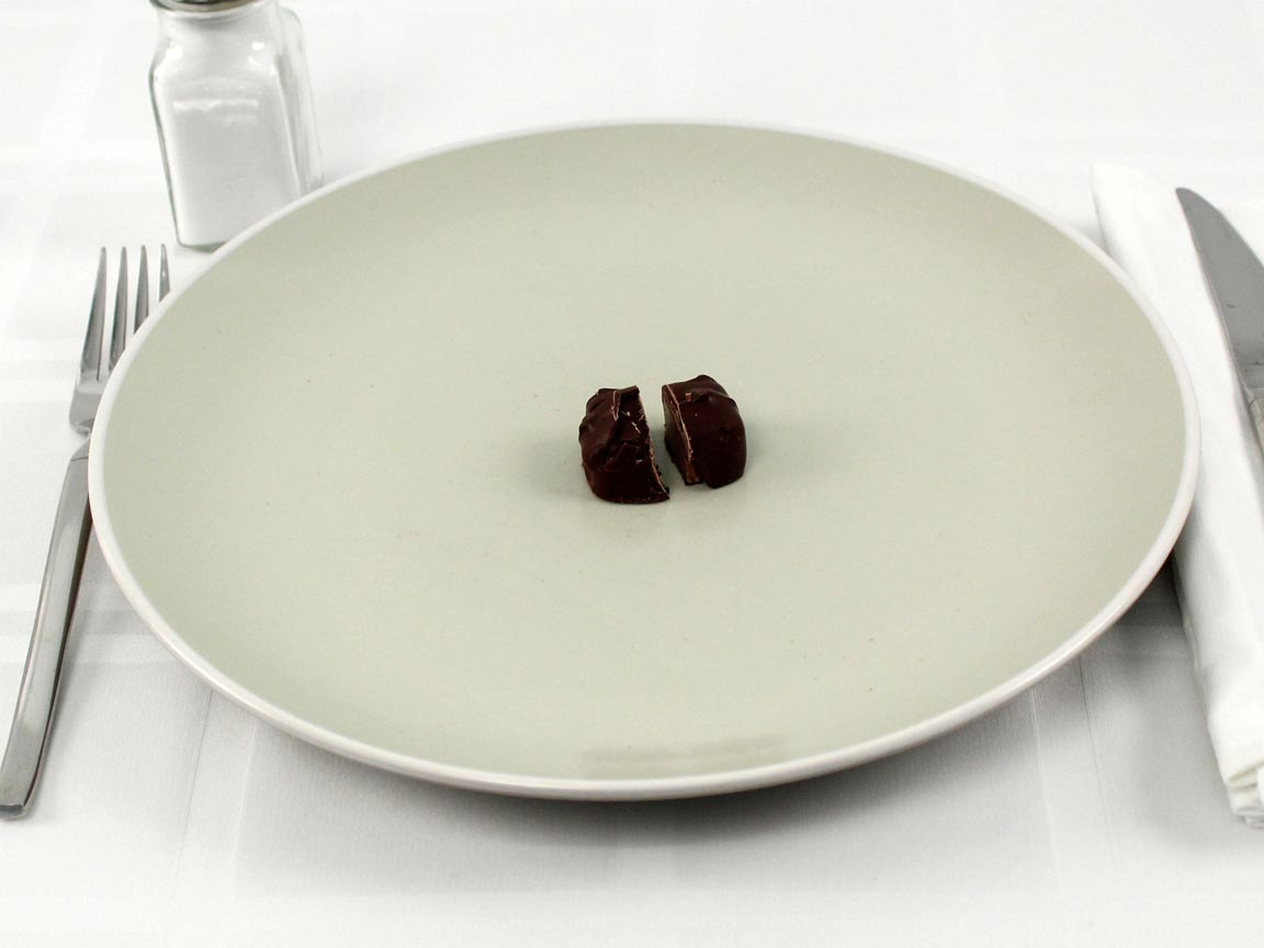 Calories in 1 piece(s) of See's Dark Butterchew