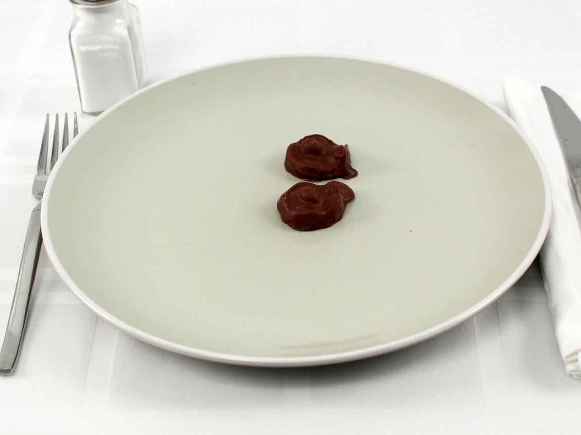 Calories in 2 piece(s) of See's Milk Peanut
