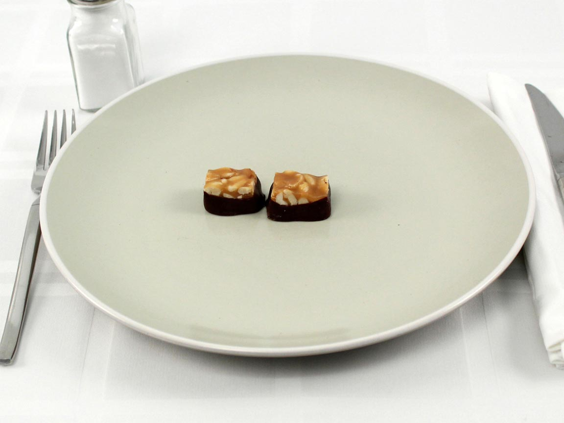Calories in 2 piece(s) of See's Walnut Square