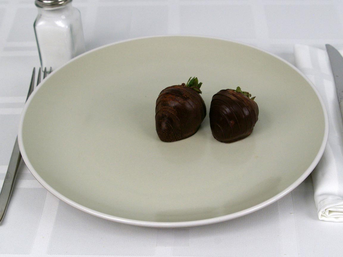 Calories in 2 strawberry(s) of Chocolate Covered Strawberries