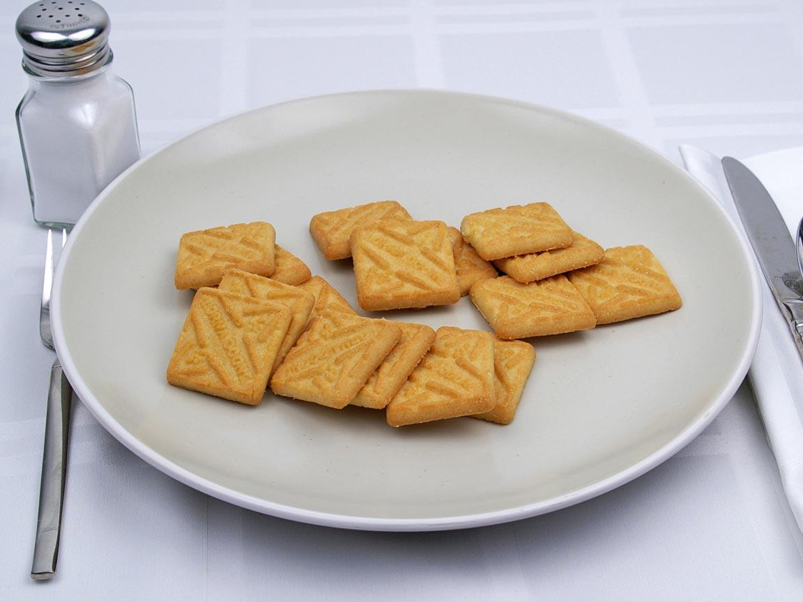 Calories in 16 cookie(s) of Lorna Doone Shortbread Cookie