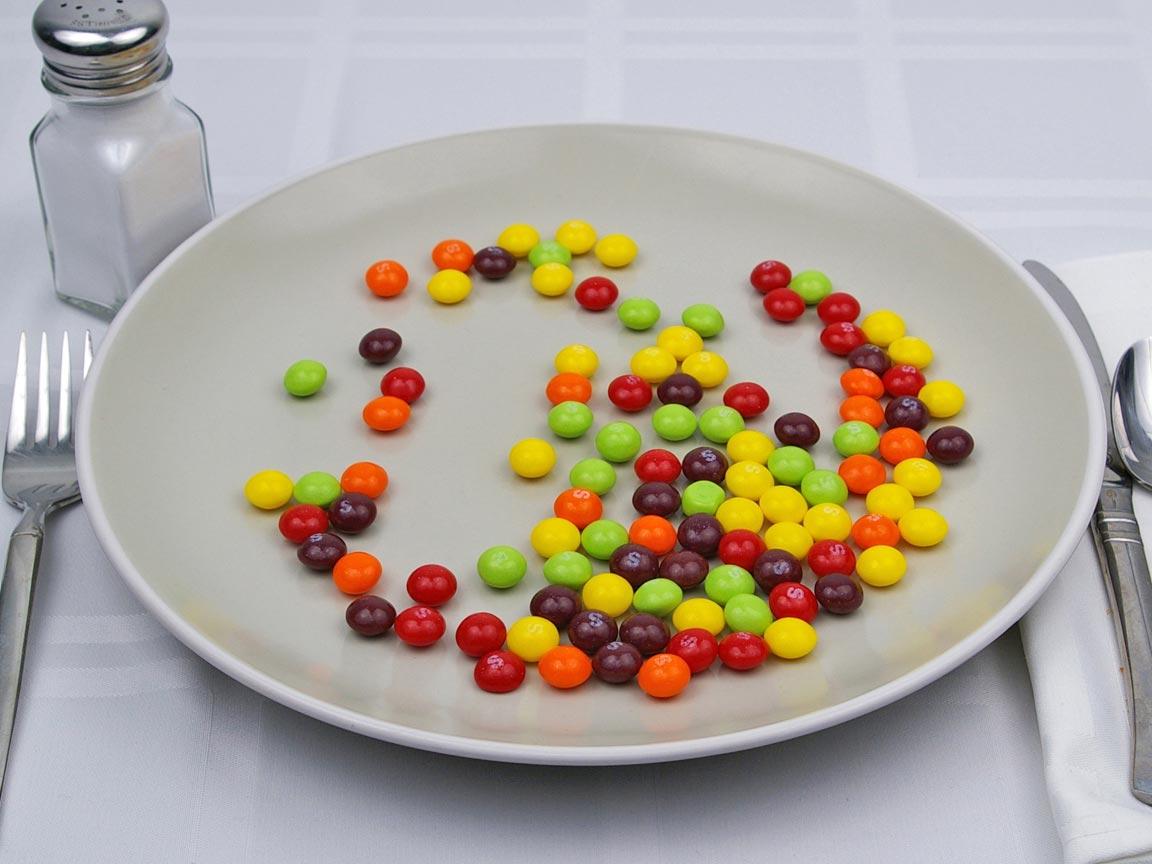 Calories in 113 grams of Skittles